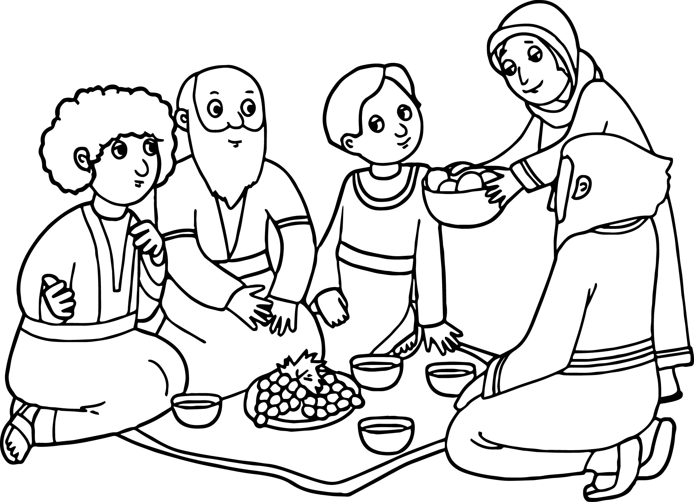 Abraham And Sarah Coloring Pages Printable