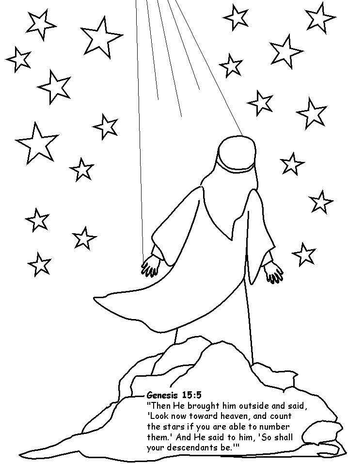 718x957 Abraham Coloring Pages We Colored Abraham And Glued Him To Black
