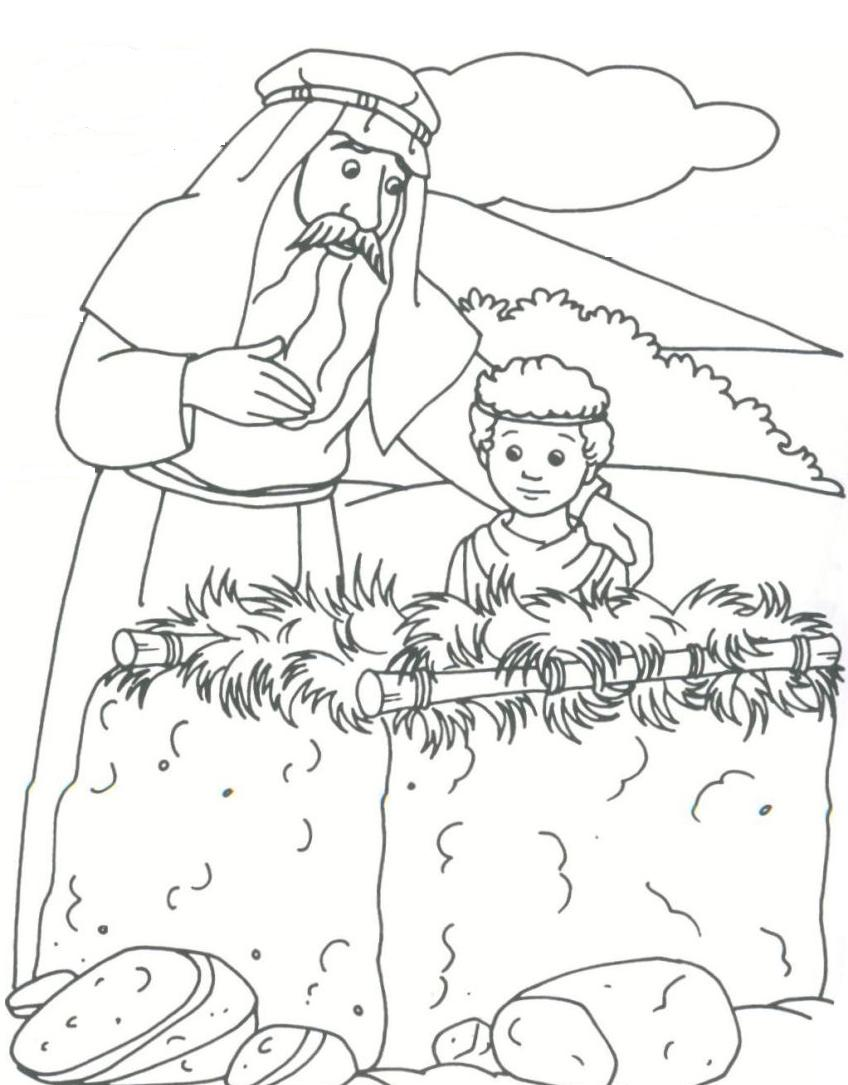 848x1085 Noted Abraham And Isaac Coloring Page Is Born Pages Photograph