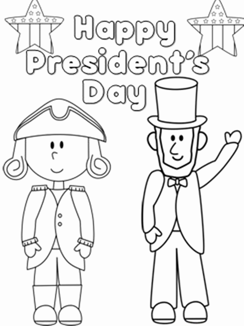 Abraham Lincoln Coloring Pages For Kindergarten