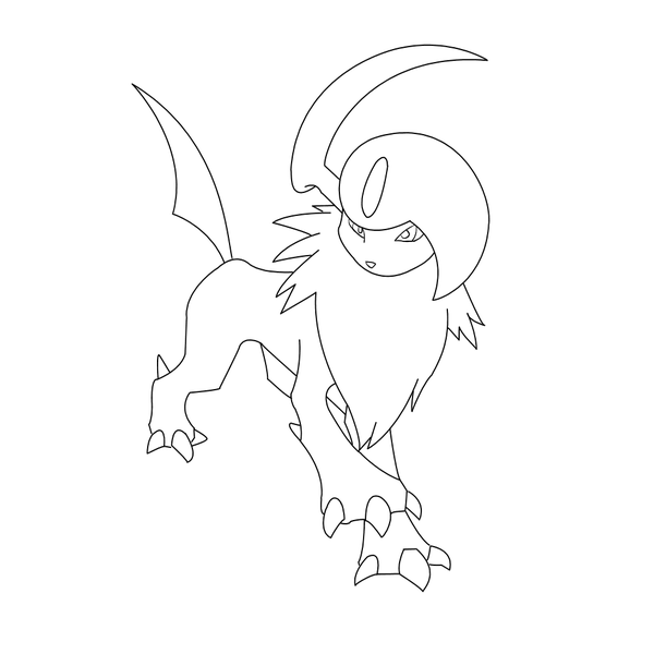 600x600 Free Absol Lineart