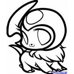 250x250 How To Draw Chibi Mega Absol Lineart Pokemon