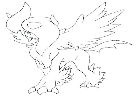 476x333 Pokemon Coloring Pages Absol Coloring Pokemon Coloring Pages Mega