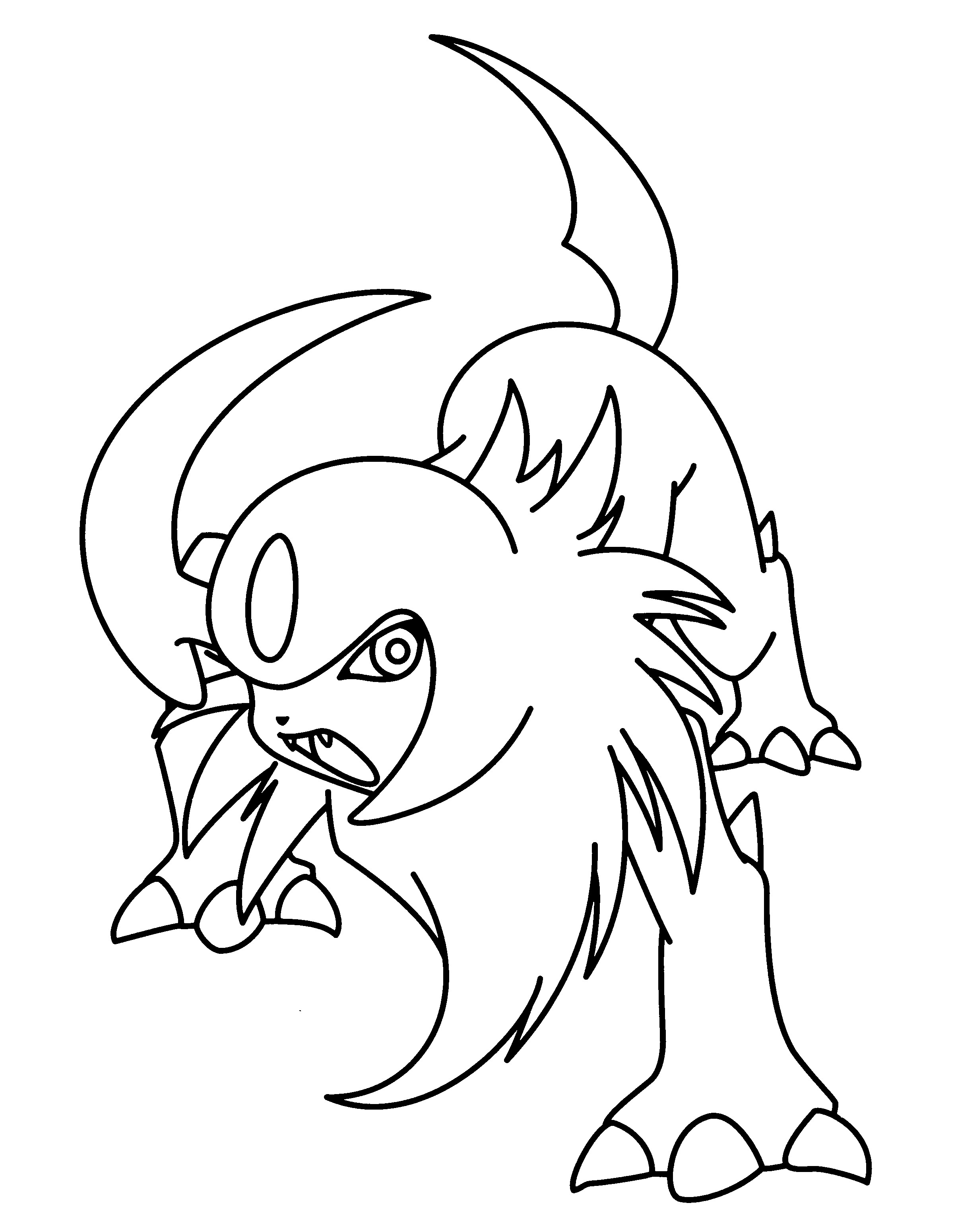 2400x3100 Unique Absol Coloring Page Collection Printable Coloring Sheet