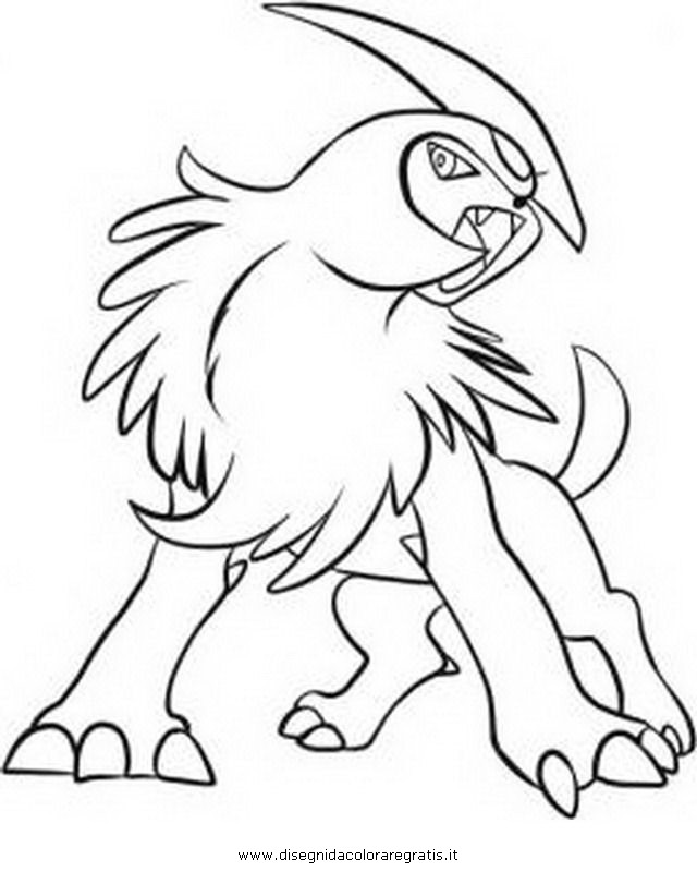 640x800 Absol Coloring Pages