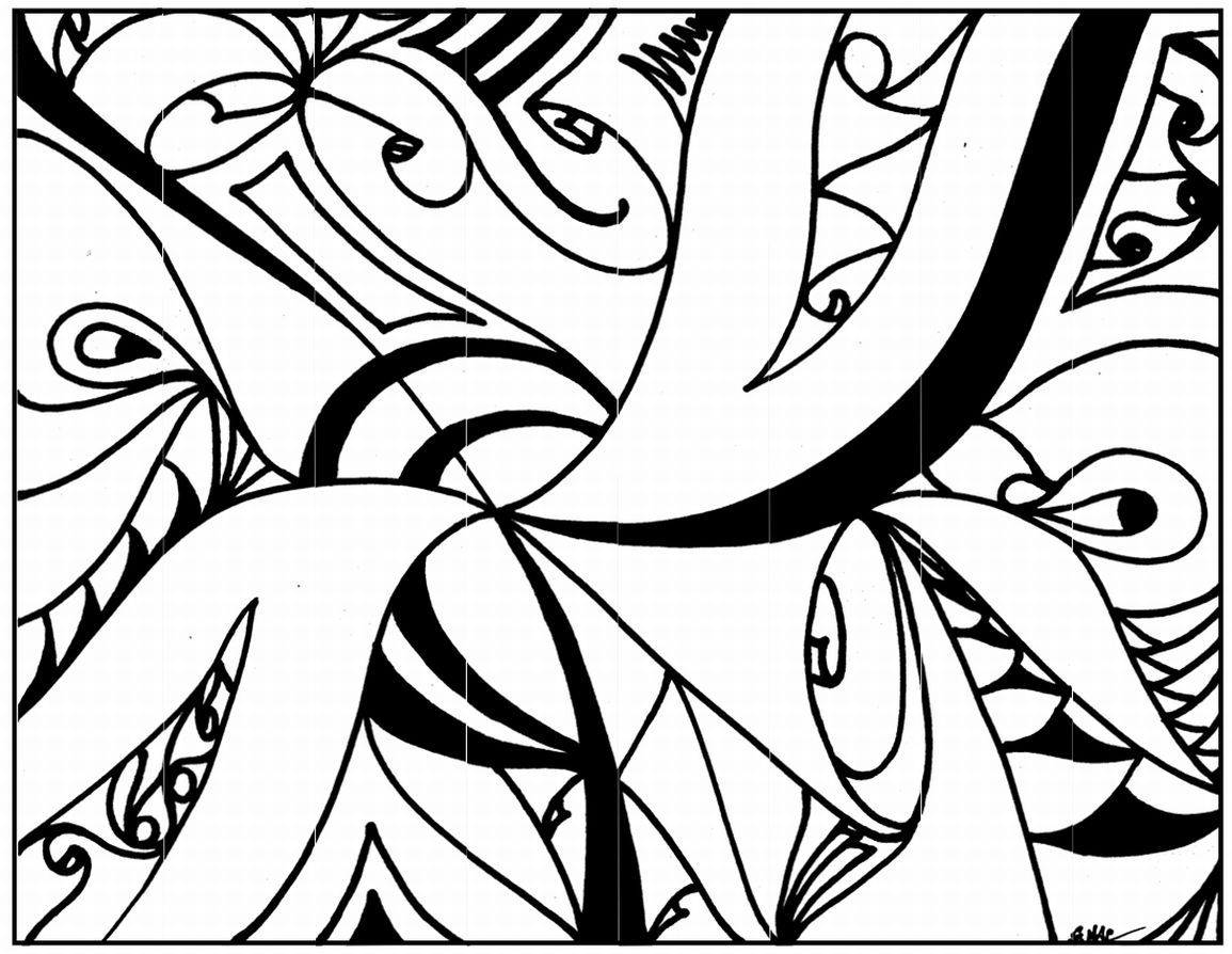 1155x894 Amazing Abstract Art Printable Coloring Pages Adult Pict