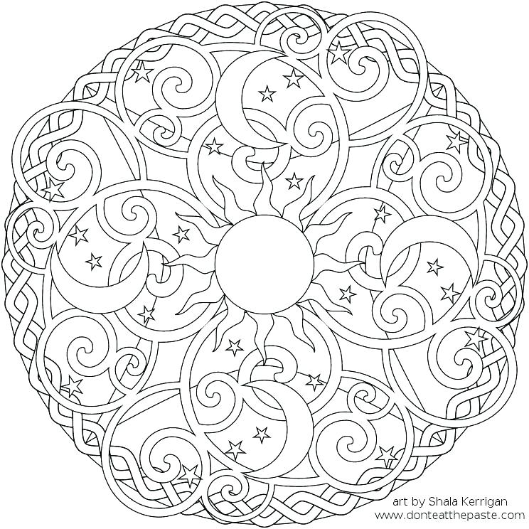 744x744 Flower Mandala Coloring Pages Flower Mandala Coloring Pages
