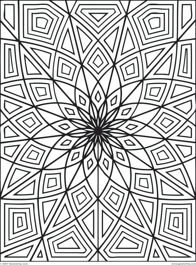 758x1024 Free Coloring Pages Adults Printable Abstract Coloring Pages