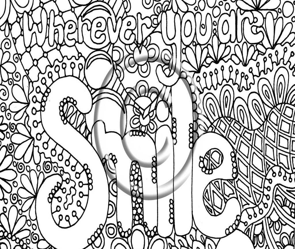 1024x864 Vector Coloring Page For Adultheart Made Of Abstract Act Pages
