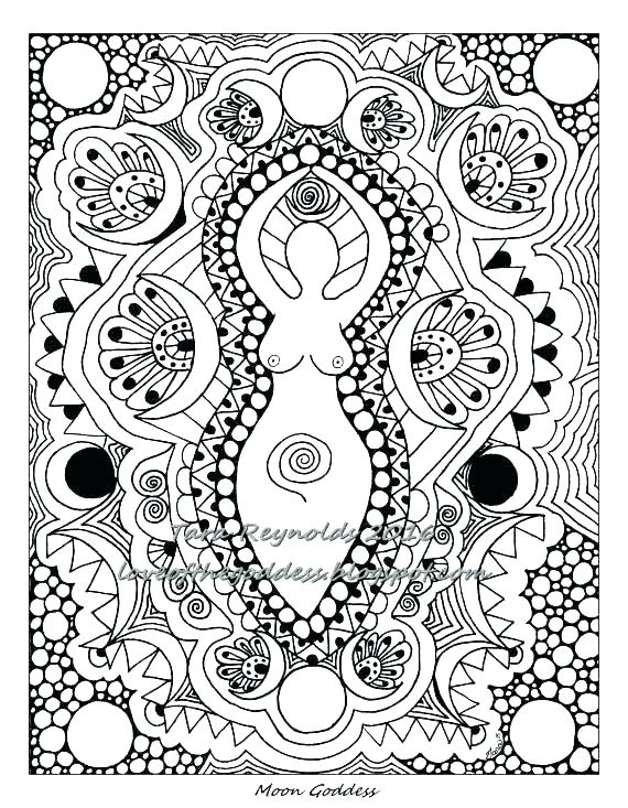 570x733 Abstract Color Pages Abstract Art Coloring Page Example Abstract