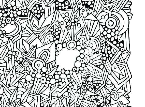 570x421 Abstract Coloring Books Abstract Color Pages Easy Mandala Coloring