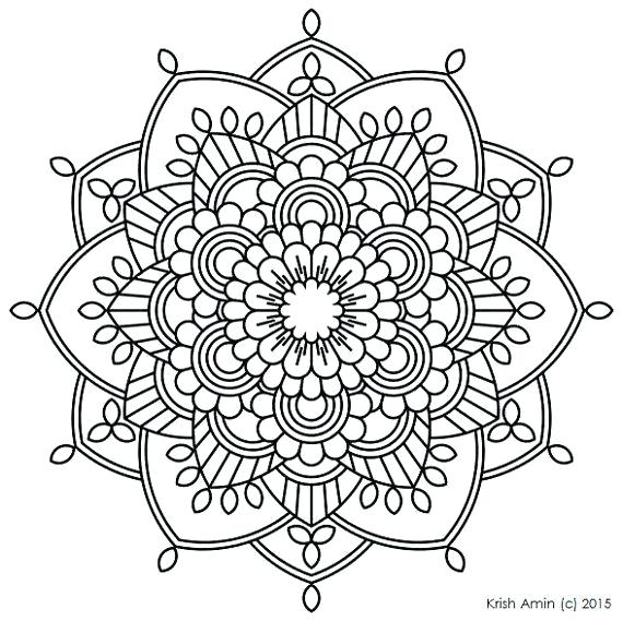 570x569 Abstract Coloring Pages Printable Best Mandala Printable Ideas