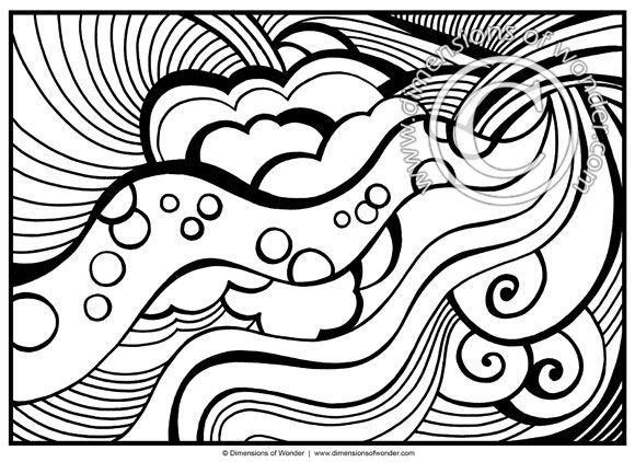 580x422 Abstract Coloring Pages For Adults {printable}