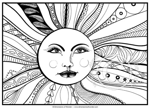 500x364 Abstract Fun Coloring Pages For Adults Color Bros