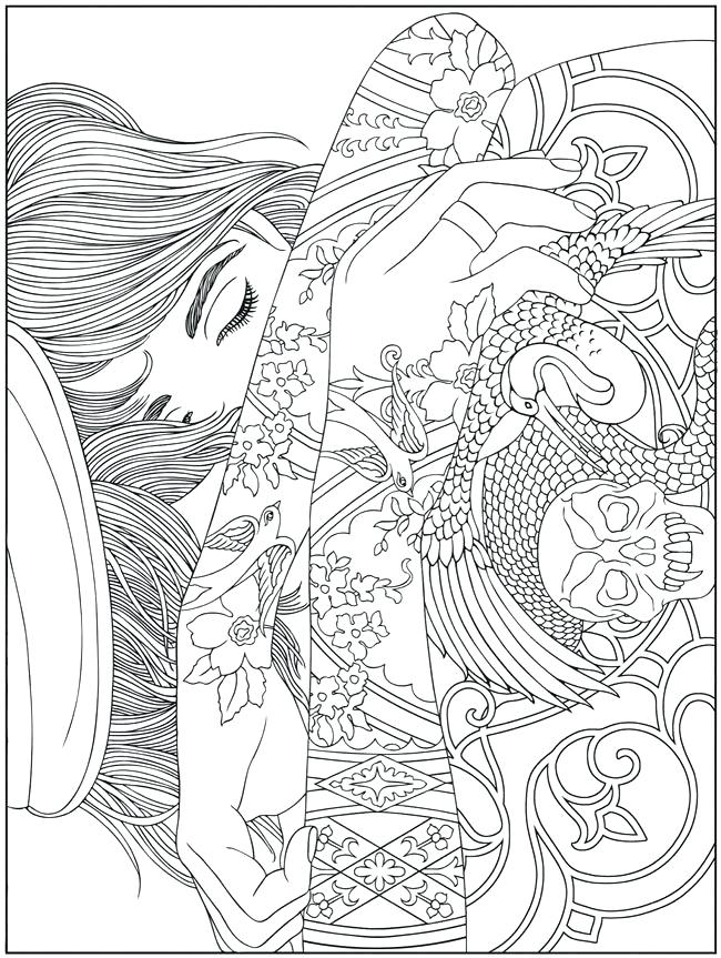 650x863 Amazing Free Online Printable Coloring Pages For Adults