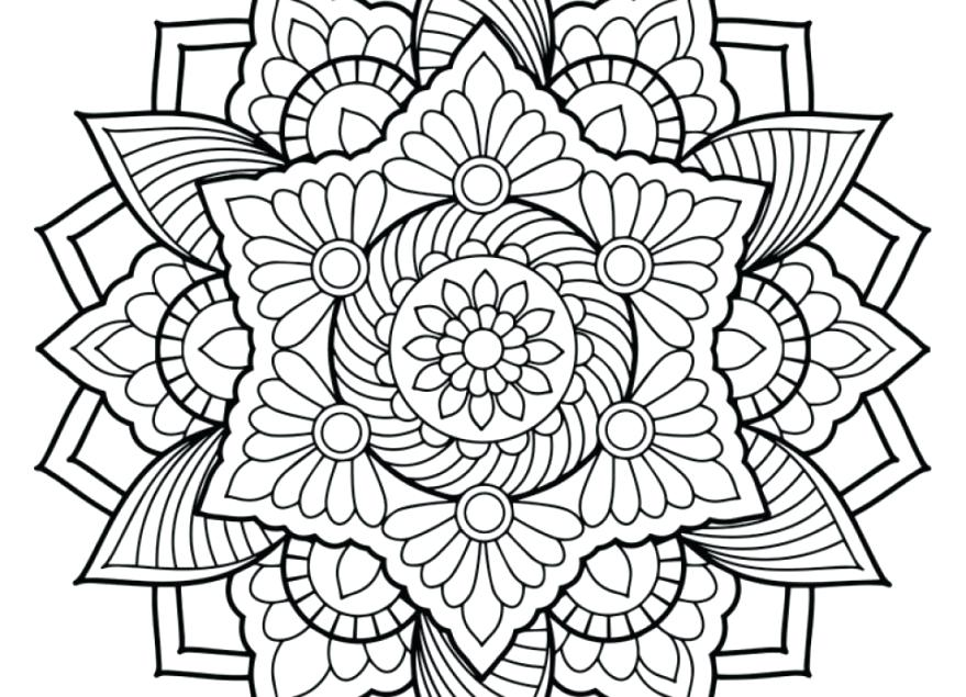 879x635 Free Printable Abstract Coloring Pages For Download Art Of Adult