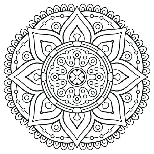500x500 Free Printable Mandala Coloring Pages For Adults With Free Mandala