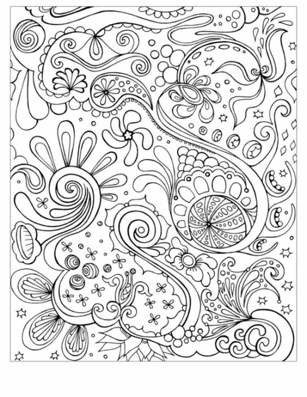 1000x1293 Gorgeous Free Printable Abstract Coloring Pages Adults For Simple
