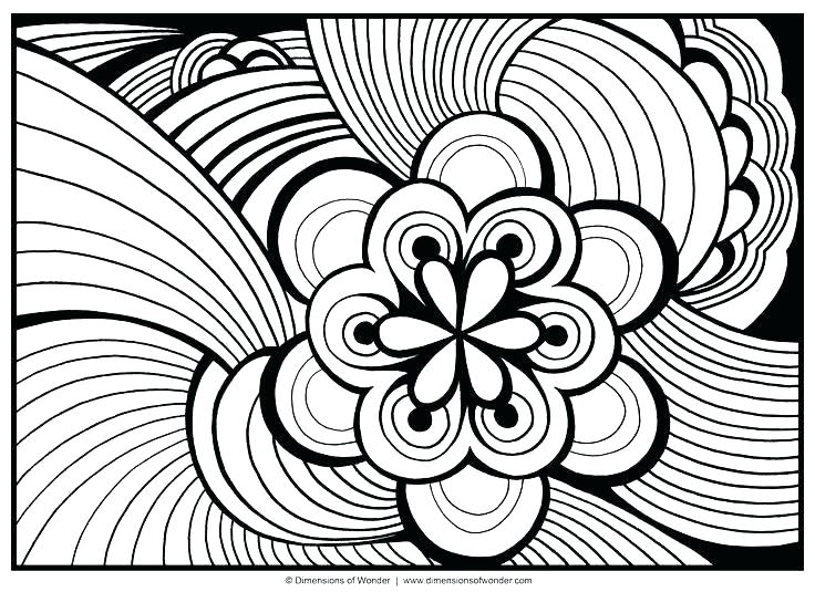 736x535 Abstract Coloring Pages For Adults Free Printable Adult Coloring