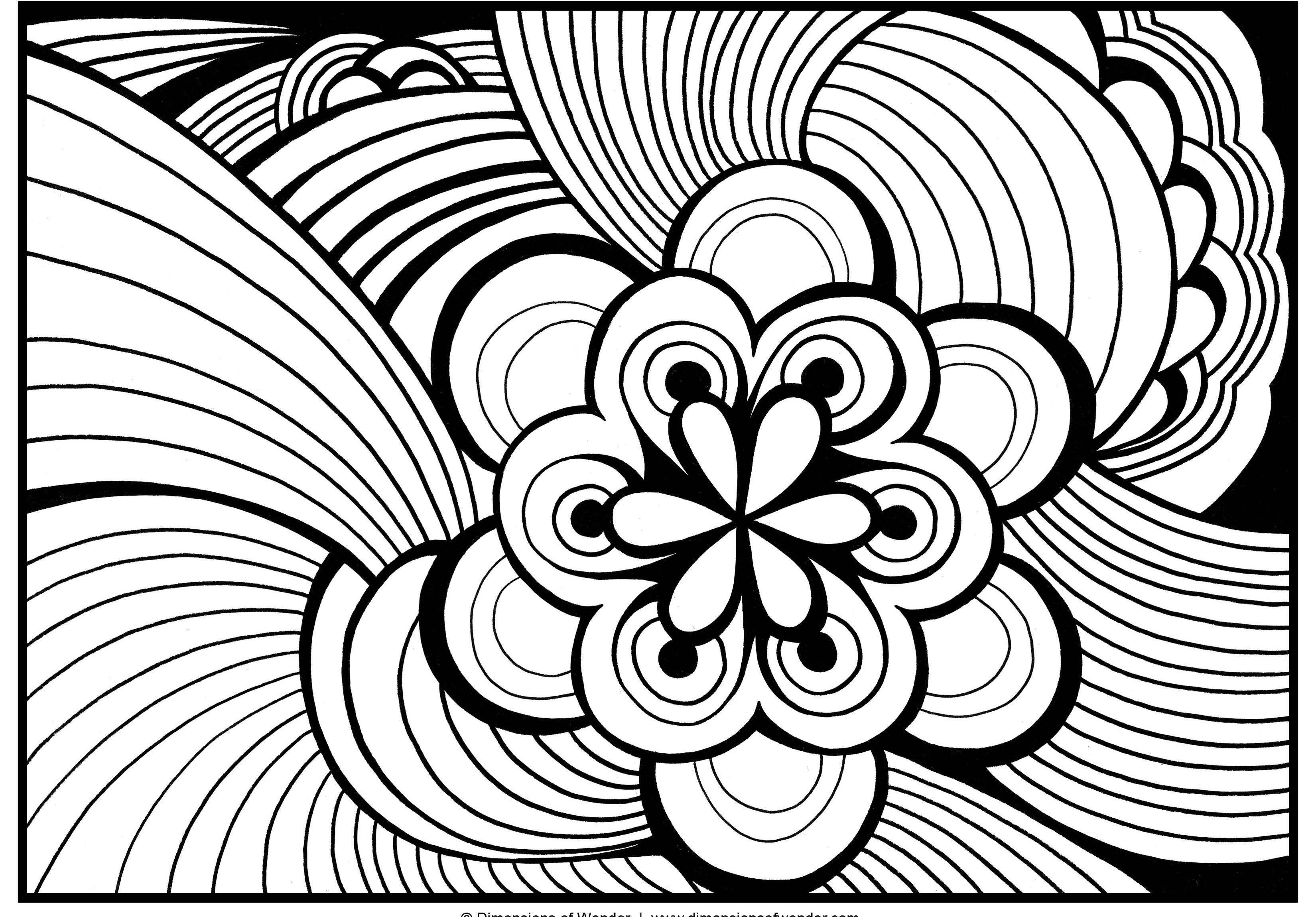 Abstract Flower Coloring Pages at GetDrawings.com | Free for ...