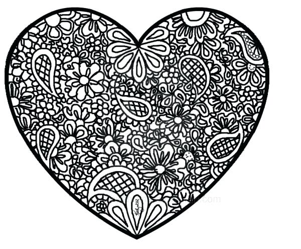 600x495 Coloring Pages Abstract Abstract Heart Coloring Pages Abstract