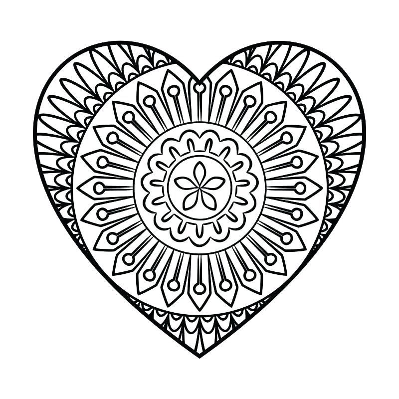 800x800 Heart Coloring Pages Abstract Heart Coloring Pages Heart Coloring
