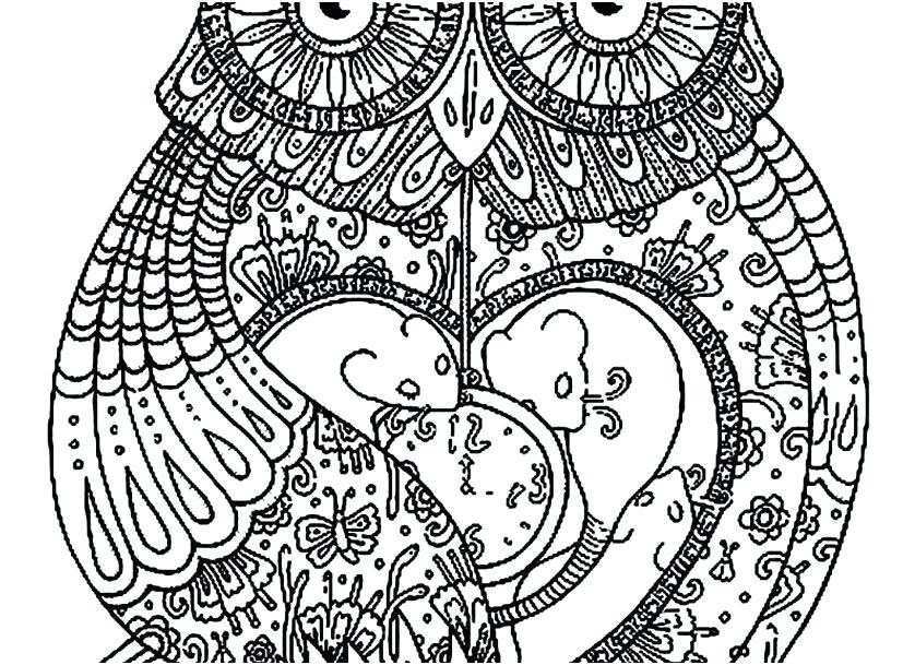 827x609 Coloring Owls Advanced Coloring Pages Of Owls Plus Whimsical Page