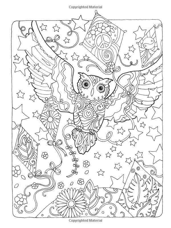 600x800 Creative Haven Owls Coloring Book Artwork