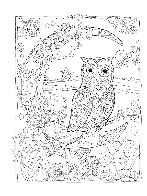 575x767 Marvellous Coloring Pages Owls Owl Coloring Page Owl Coloring