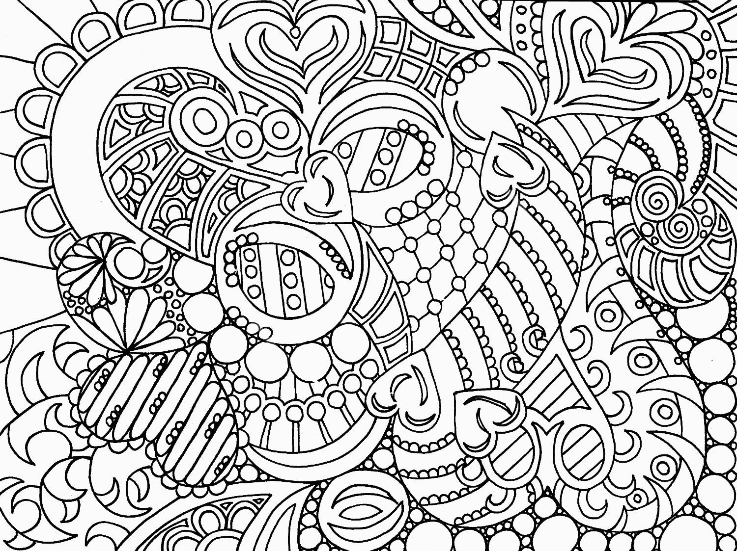 1500x1123 Abstract Owl Coloring Pages