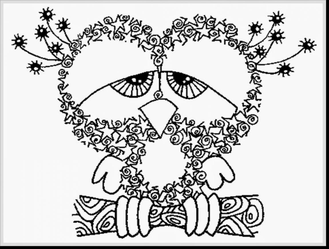 1150x869 Owl Coloring Page Cool Of An Free Printable Mandala Pages