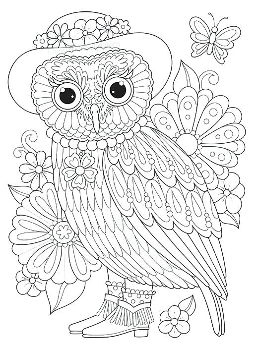516x700 Owl Coloring Pages Owls Coloring Pages And Birds Owls Eagle Owl