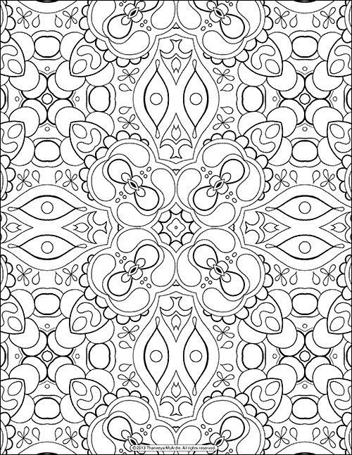 Abstract Patterns Coloring Pages