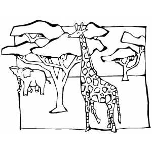 300x300 African Savanna Coloring Pages