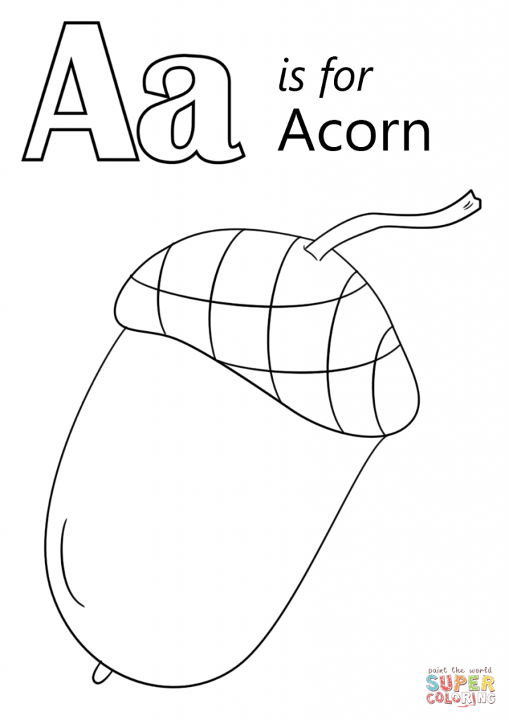 724x1024 Acorn Coloring Pages