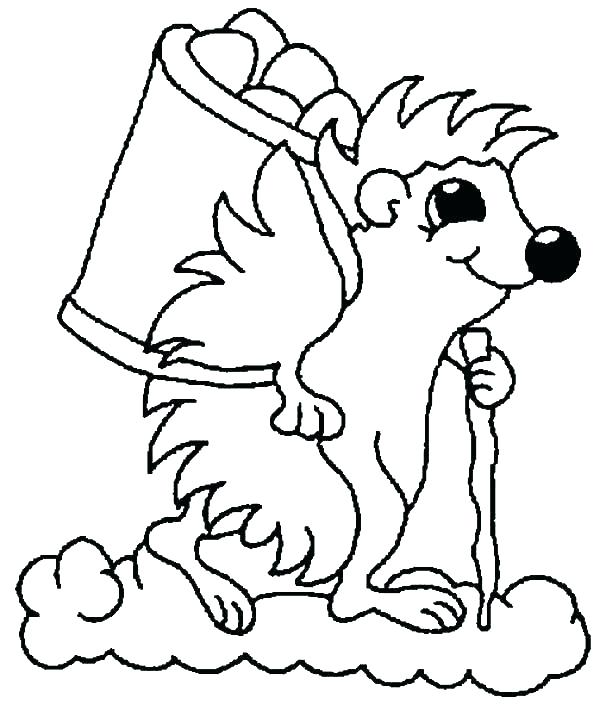 600x717 Large Acorn Coloring Pages Drawn Squirrel Pencil And In Color