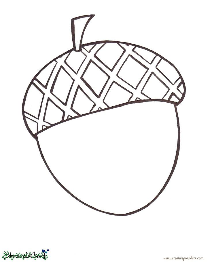 736x915 Acorn Coloring Pages Enchanting Acorn Coloring Pages