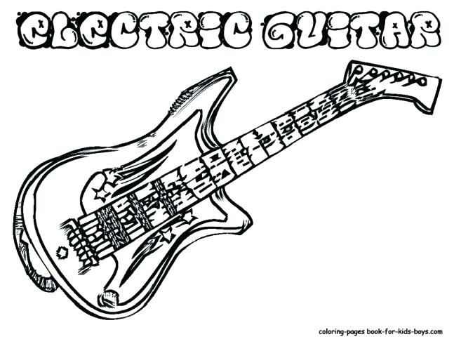 647x500 Guitar Coloring Page Free Electric Guitar Coloring Pages Guitar