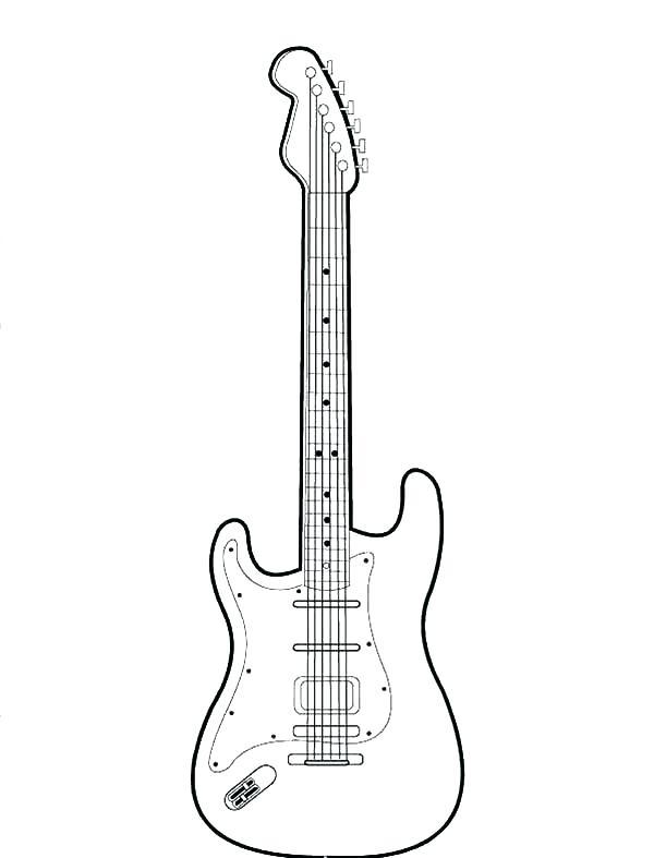 600x787 Guitar Coloring Pages Acoustic Guitar Acoustic Guitar Coloring