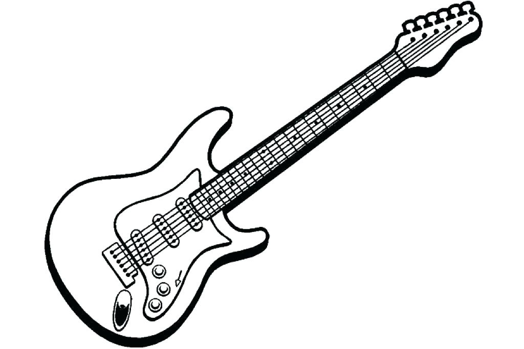 1024x683 Guitar Coloring Pages Guitar Coloring Page Electric Guitar