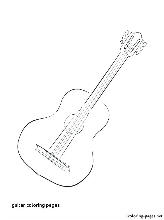 560x750 Electric Guitar Coloring Page