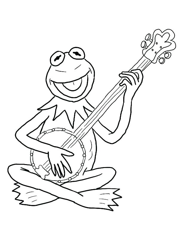 600x811 Guitar Coloring Page Coloring Pages Collection