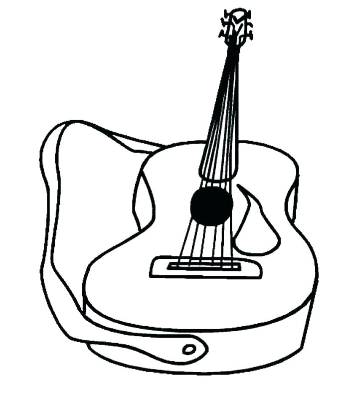 700x800 Guitar Coloring Pages