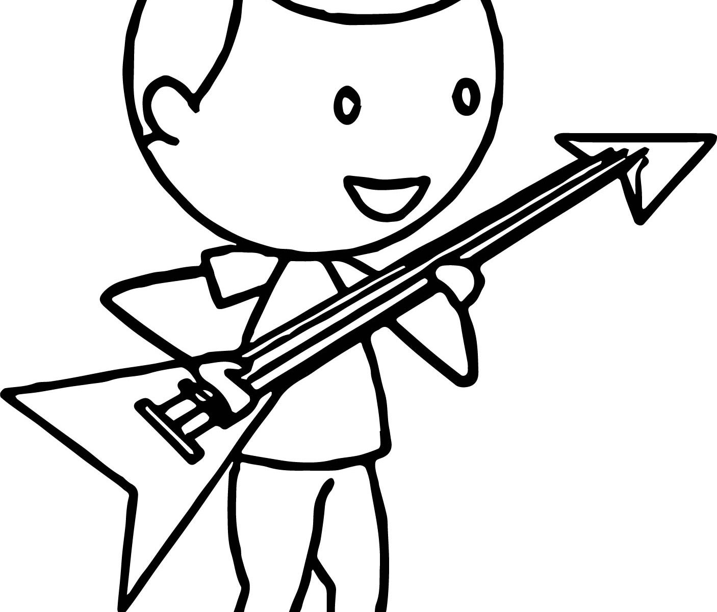 1406x1200 Electric Guitar Coloring Pages Simple Images Acoustic And Adult