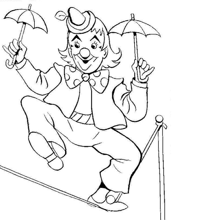 Acrobat Coloring Pages