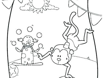 440x330 Circus Coloring Pages Printable Circus Coloring Sheets