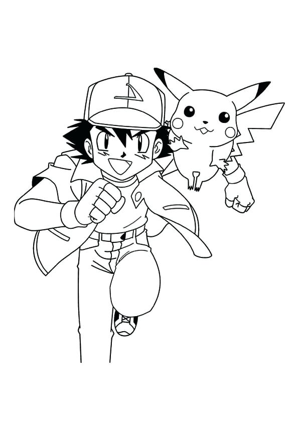 600x849 Coloring Pages Of Pikachu Ash And Coloring Pages Ash Ready