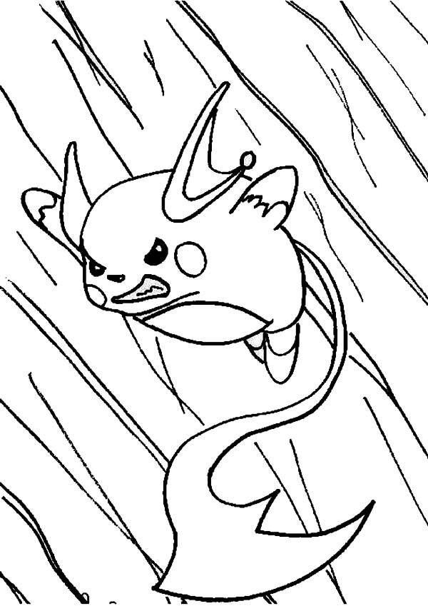 600x849 Raichu In Action Coloring Page Color Luna