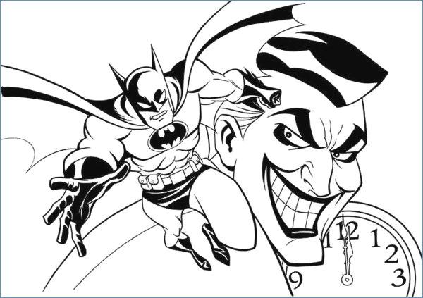 600x423 Batman Action Coloring Pages