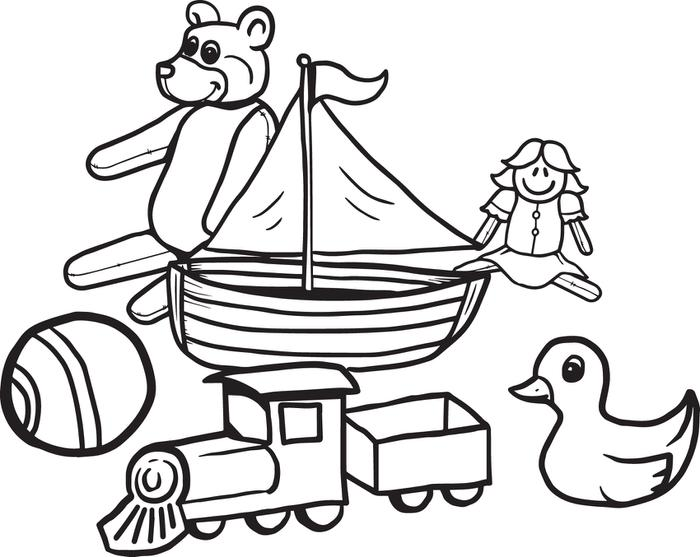 700x557 Toy Coloring Pages Free Printable Christmas Toys Coloring Page